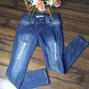 Silver diva skinny jeans size 15
